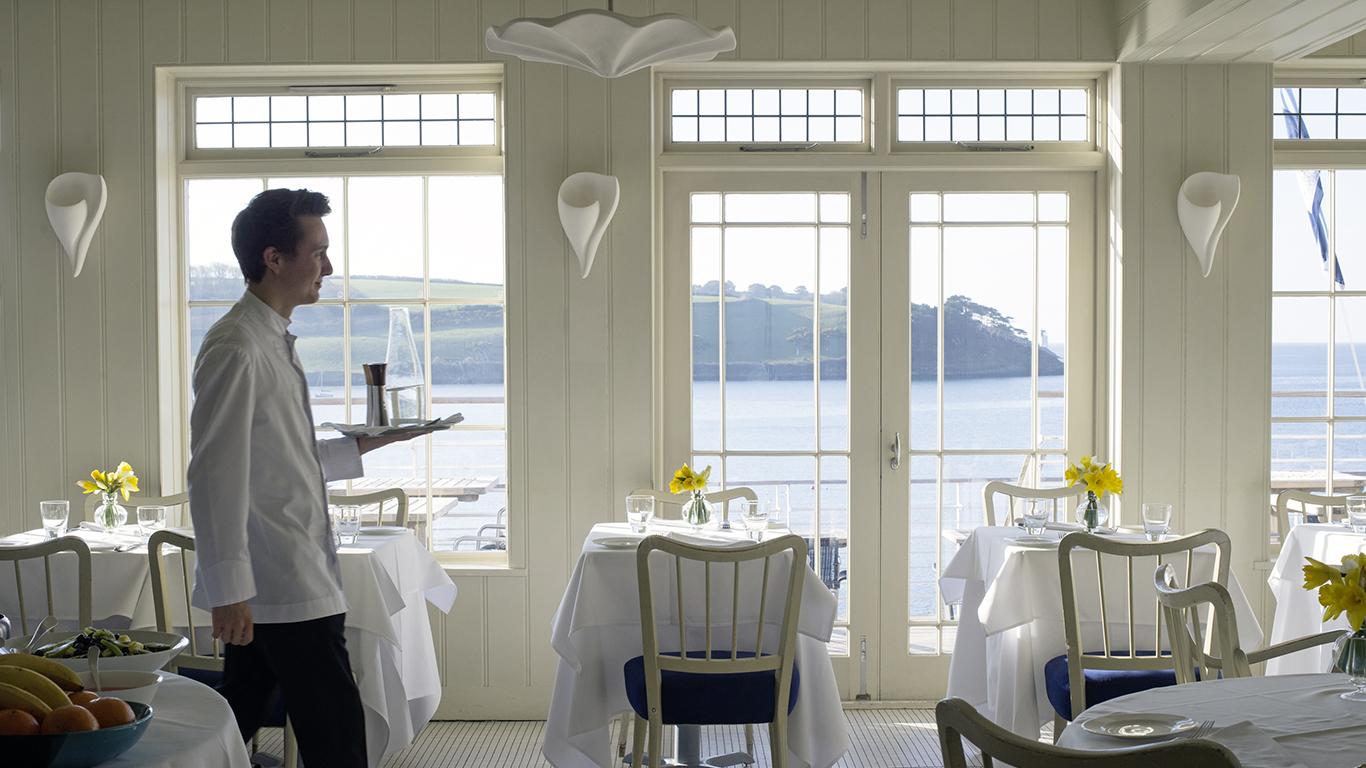Elegant dining at Hotel Tresanton, St Mawes