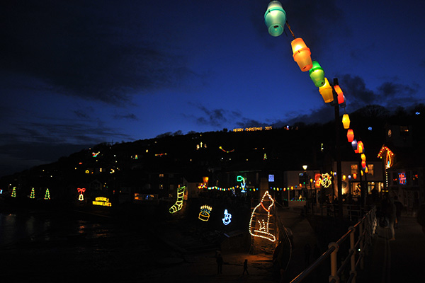 Mousehole Christmas lights by Adam Ludnow
