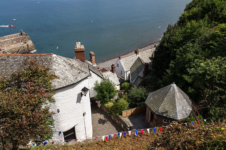 Looking down on Clovelly